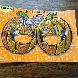 Halloween Jack O Lantern Jewel Tone Mask